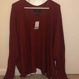 Forever 21 Rust Sweater Cardigan